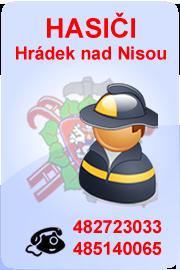 Hasiči Hrádek nad Nisou: 482723033, 485140065
